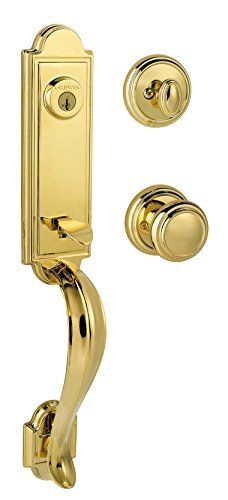 Baldwin Prestige Avendale Single Cylinder Handleset with Alcott Knob featuring SmartKey in Lifetime Polished - Hardware Colonial Baldwin Lever