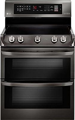 LG LDE4415BD Freestanding Range with in Black Stainless Steel