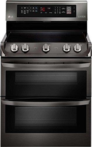 lg lde4415bd range with in black stainless steel