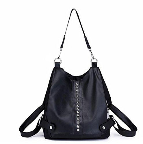 à sac cuir PU la 28 en dos décontracté des Sac 32cm à souple multifonctionnel femmes sac mode main 12 de zaqxawfO61