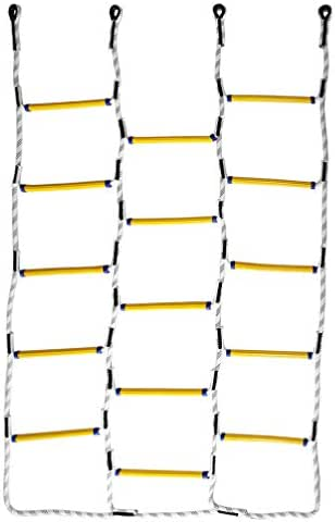 Aoneky 5.9 ft Nylon Climbing Cargo Net - Climbing Rope Ladder for Kids - Fun Outdoor Toy for Boys Ages 6 Years Old and Up