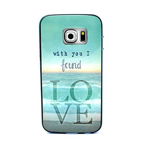 S6 edge Case,Cute Galaxy S6 edge Case,Kaseberry A03 Design Hard Back Cover for Samsung Galaxy S6 edge