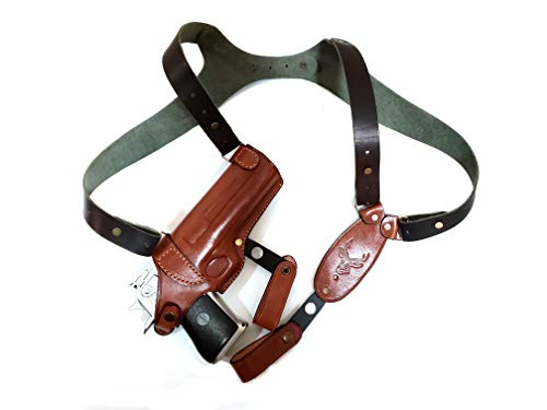Horizontal Shoulder Leather Holster FITS for Desert Eagle FITS All CALIBERS with 6''