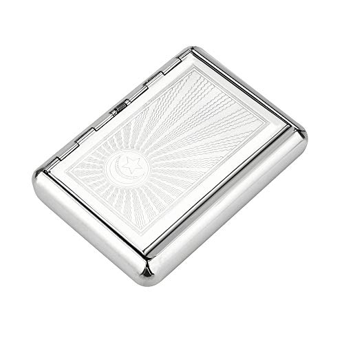 weiadinga Tobacco Storage Box Storage Box Pocket Size Metal Cigarette case Cigarette Storage Box Tobacco Tin ()