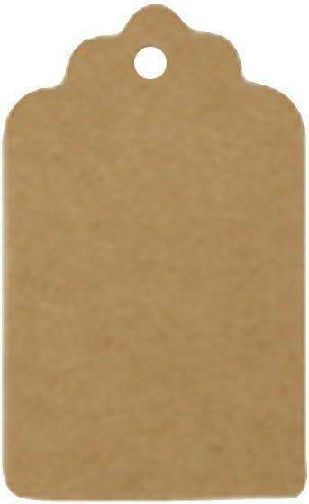 Brun Doitsa Lot de 100CPS carte de voeux Carte Vierge /Étiquette de Cadeau /Étiquette sans corde 3x5cm