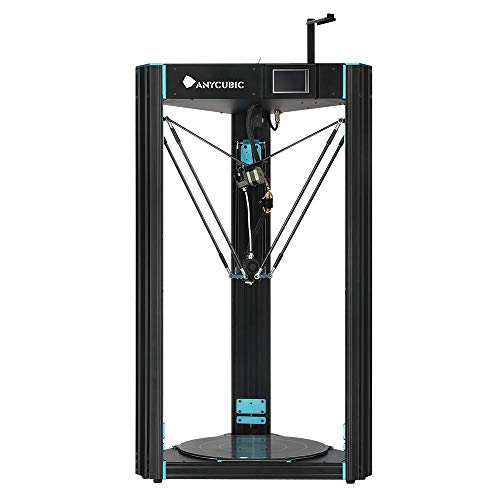 ANYCUBIC Predator Delta 3D Printer Pre-Assembled with Ultrabase Hotbed and Semi Auto Leveling Touch Screen Huge Print Size 370×370×455mm with Filament 1.75 mm