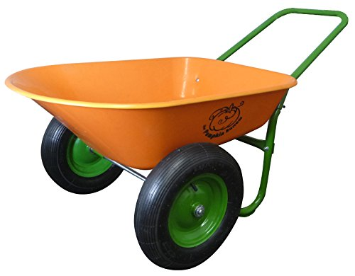 Dual-Wheel-Residential-Yard-Rover-Wheelbarrow-Pumpkin-5-Cubic-Foot-Poly-Tray-with-Flat-Free-Tires