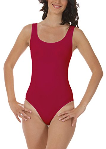 FOCENZA - BODY DONNA A SPALLA LARGA - prodotto e realizzato in Italia - body intimo donna Rosso