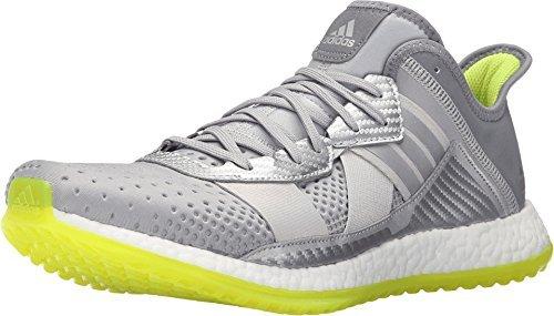 adidas Originals Men's Pure Boost ZG Cross-Trainer Shoe, Silver/Metallic/White/Semi Solar Slime, 7.5 M US