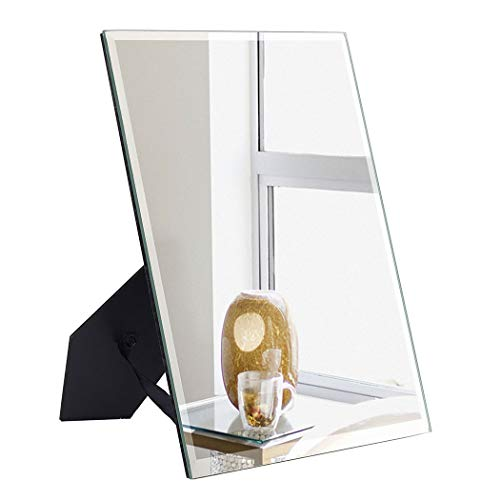 ANDY STAR Small Desk Mirror for Makeup, 7x9-Inch Mirror for Wall, Narrow Mirror Mountable for Door, Wall Mirrors Decorative Frameless with 0.24 inches Beveled Edge (Mirrors Narrow)