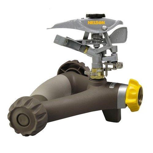 Fiskars Garden Watering 300NMW Pulsating Sprinkler with Metal Head & Rezimar Wheel Base, 86'