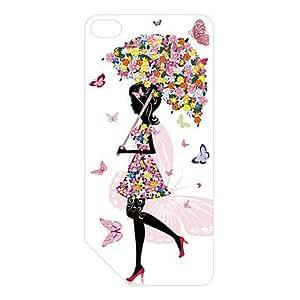 compra Patrón de diseño de la muchacha de flor 3d plástico tallado de la contraportada para nano7 manzana