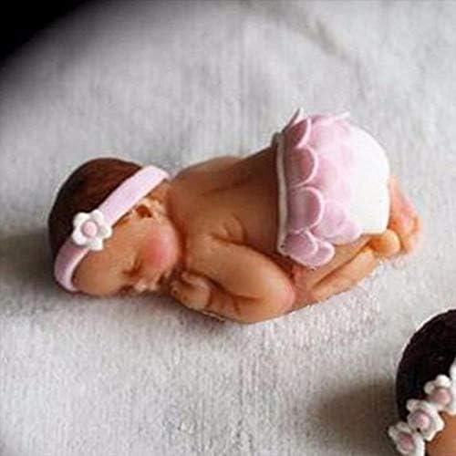Yikuaigang 3D 睡眠ベビーハンドメイドソープモールド赤ちゃんケーキ用シリコーン金型砂糖菓子型 diy デザイン装飾ツール 7*5*2.5 センチメートル (Color : A)
