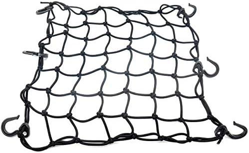 15x15 Cargo Net featuring 6 Adjustable Back Seat Hooks /& Tight Mesh Black