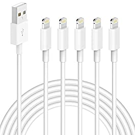 iPhone Charger,5 Pack (6 FT) MBYY [Apple MFi Certified] Charger Lightning to USB Cable Compatible iPhone 11 Pro/11/XS…