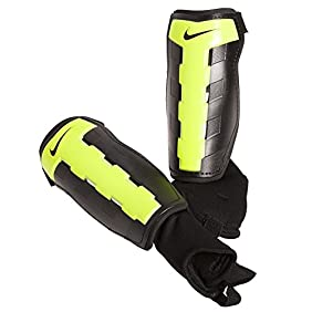Nike Charge Adult Soccer Shin Guard, Black/Volt