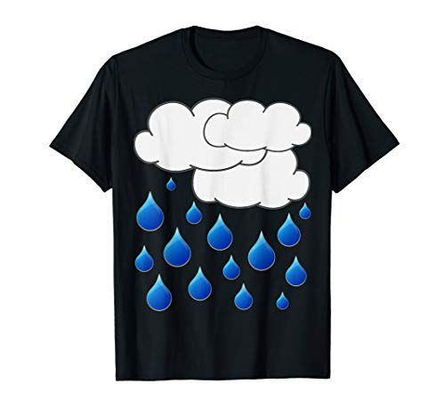 Rain Cloud Raindrops Costume Shirt | Easy Halloween T-Shirt ()