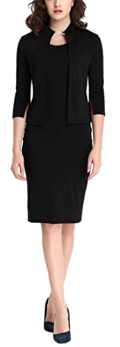 Women's Vintage 2 Pieces 3/4 Sleeve Wear to Work Party Bodycon Dress