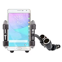 DURAGADGET Non-Shake / Anti-Shake Cigarette Lighter Mounted Phone Holder / Mount for the NEW Samsung Galaxy Core Max, Samsung Galaxy Note Edge, Samsung Galaxy Note 4 & the Samsung Galaxy Note 4 Duos