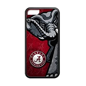 Generic Custom Extraordinary Best Design Alabama Crimson Tide Symbol Plastic and TPU Black and White Case Cover for iPhone5C by ruishername