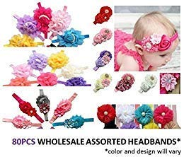 Assorted Wholesale Baby Girl Headband Hair Accessory Photography Prop 80pcs