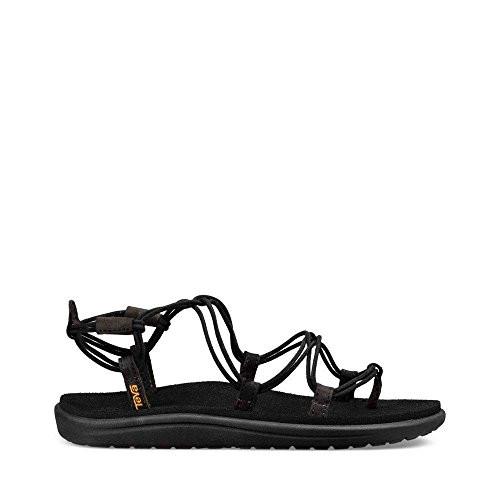 Shoes Water Teva (Teva Women's W Voya Infinity Flip-Flop, Black, 8 M US)