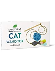 Sandy Leaf Farm Cat Wand Toy Making Kit - Make the perfect wand toy for your cat for cat lovers