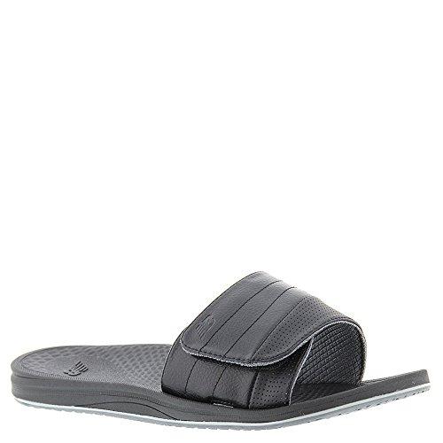 New Balance Men's Recharge Slide Sandal, Black/Grey, 12 D US