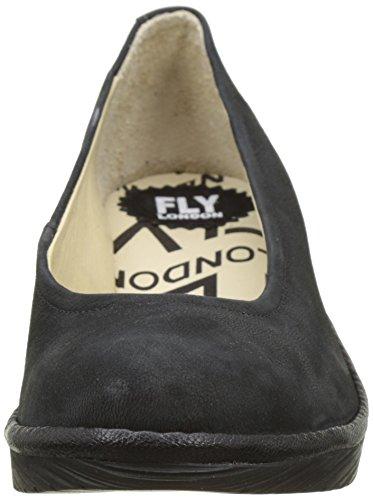 Nero Fly 072 con Nero Donna London Zeppa Nero Scarpe P500424074 Pq6waxPvp