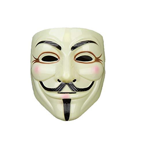 YHW mall Halloween Mask V for Vendetta Anonymous Mask Guy Fawkes Fawkes Halloween Mask (Yellow)