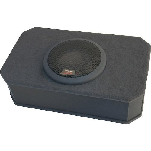 Alpine SBR-S8-4 Slim box Car Ported enclosure with one 8 inch Type-R under seat subwoofer 1000 watts Power