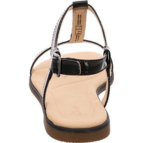 Clarks Sandalo Donna Bay Blossom 261319454 Argento 461186 Nero