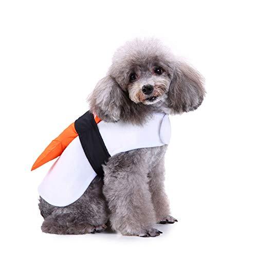 fanmaosdf Funny Salmon Sushi Pet Clothes Warm Wrap Dog Cat Halloween Christmas Costume S ()