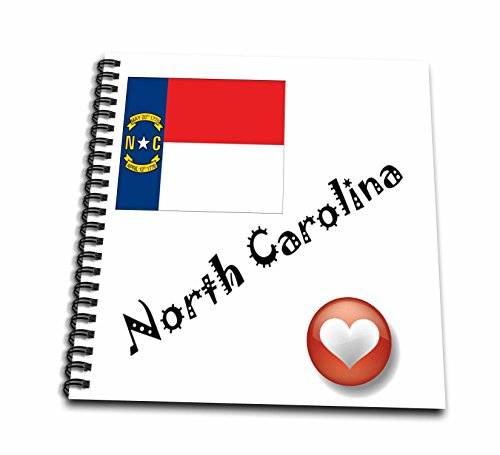 - 3dRose db_7201_1 I Love North Carolina-Drawing Book, 8 by 8-Inch
