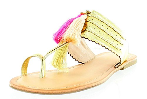 Madden Girl Women's Summerrr Toe Ring Sandal, Gold Paris, 8 M US (Gold Paris Sandals)