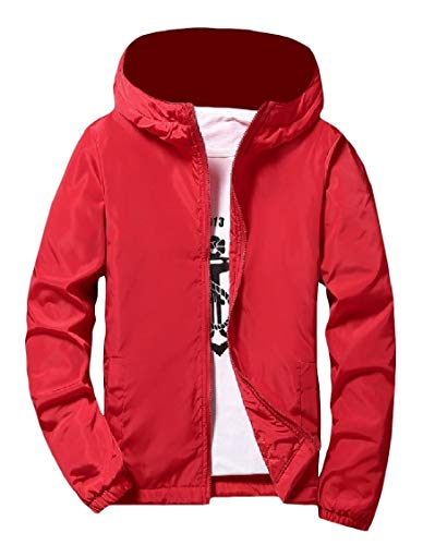 Thick Zip Red Pure EnergyMen Windbreaker Outwear Full Coat Jacket Varsity RSSTwBHq