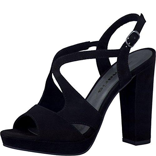 Tamaris 1-1-28386-38/324 - Sandalias de vestir de Lona para mujer negro