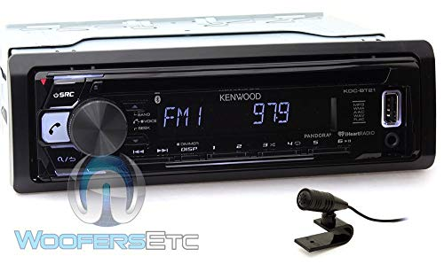 Kenwood KDC-BT21 in-Dash 1-DIN CD/MP3 Car Stereo Receiver with Bluetooth and Front USB Input (Renewed) ()