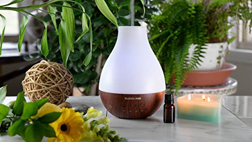 MAJESTIC PURE Essential Oil Diffuser  Advanced Aroma Diffuser with Strong Mist Output  Best Ultrasonic Wider Area Cool Mist Humidifier Longer Run Times BPA Safe and Automatic Safety Features