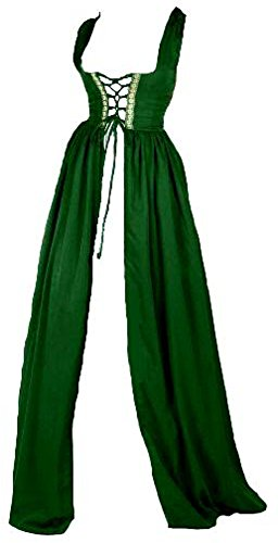 Renaissance Irish Over Dress (S/M, Hunter Green) (2)