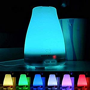Essential Oil Diffuser 160 ml for Longer Mist - Cool Mist Aromatherapy with 7 Changing Colored LED Lights, Auto Shut-Off, and Adjustable Mist Modes by