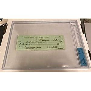 1937 Bert Bell Philadelphia Eagles NFL Autographed Signed Check Bgs JSA Authentic Memorabilia Auto Tendler Tavern