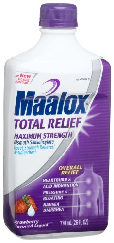 Maalox Total Stomach Relief, Strawberry, 26-Ounce Bottle (Pack of 2)