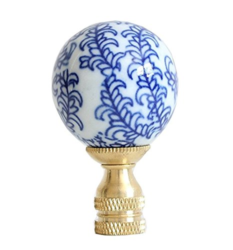 - Blue and White Floral Pattern Porcelain Lamp Finial