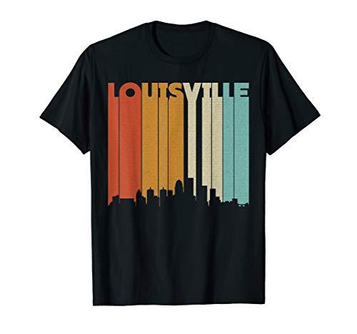 Louisville Cardinals Halloween (Louisville Retro Skyline City T-Shirt Souvenir)