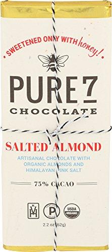 Pure7, Honey Sweetened Salted Almond Chocolate Bar, Paleo (2 oz.)