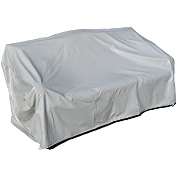 Protective Covers Weatherproof 3 Seat Wicker/Rattan Sofa Cover, Large, Gray