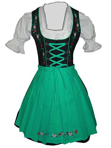 Dirndl-s Di06grs 3pcs. Size 22, women Oktoberfest
