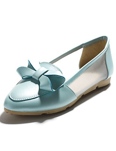 us6 blue 5 Azul Puntiagudos Zapatos us6 Casual cn37 de Blanco Plano 5 mujer ZQ eu37 eu37 5 7 5 Planos 5 7 gyht uk4 5 uk4 Comfort cn39 uk6 us8 eu39 white Tacón Rosa Semicuero blue cn37 4Swx0W6Pq