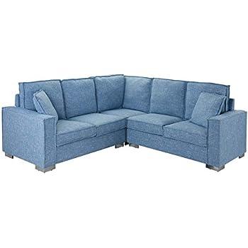 Amazon Com Modern Living Room Linen Fabric Sectional Sofa
